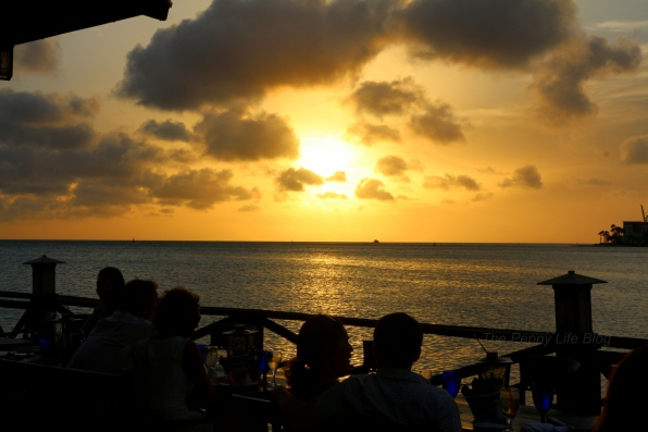 Sunset from the restaurant