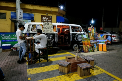 Mobile art gallery and coffee shop