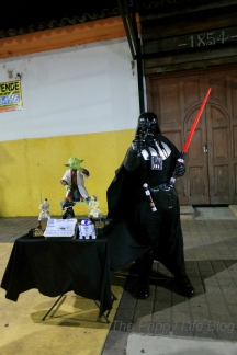 Even Darth Vader visits Paseo del Carmen